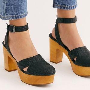 FREE PEOPLE Matisse Black Vegan Leather Sandals